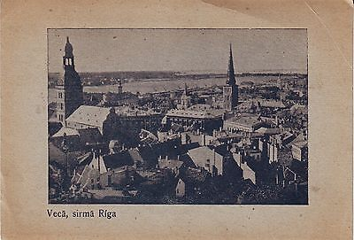 Latvia Russia Riga Рига - Total View circa 1930 continental size postcard