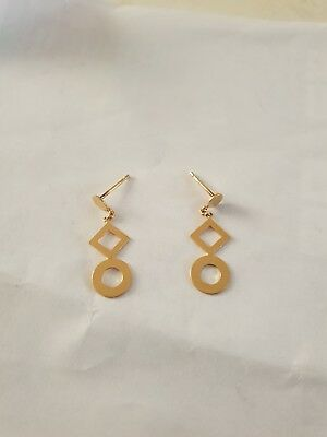 18ct Yellow Gold Earrings Hallmarked .750