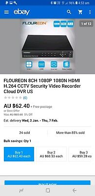 Floureon Box + 1TB Hard drive + 2 x SWPRO-735CAM + Power Adapters and cables