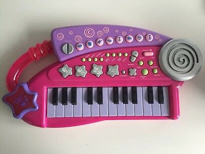 Pink ELC mini keyboard with carry handle & Lights And Sounds VGC Ideal Xmas Gift