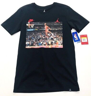 7244ff02fd7d5e Nike Air Jordan Retro 3 1988 DUNK CONTEST Black Men s T-Shirt Size Small (