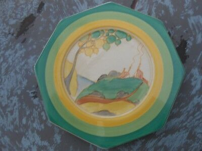 Very Rare Clarice Cliff Hexagonal Plate Secrets  Art Deco Wow No 2