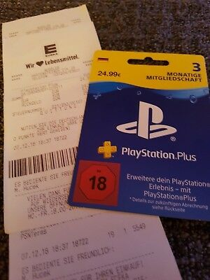 Playstation Plus Gutschein Karte