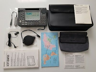 Sony World Band Shortwave Portable Radio Receiver Icf-Sw55 Fm/sw/mw/lw