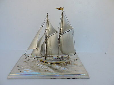 Masterly Crafted Vintage Solid Sterling Silver Ship Scrap 98 Grams 3.4 Oz Japan
