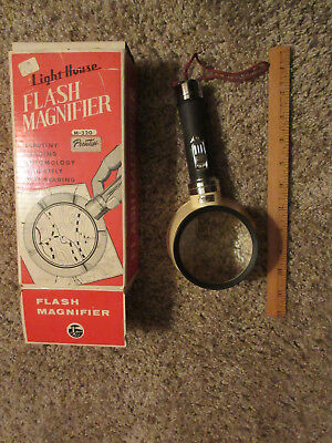 Vintage Flash Magnifier Light House Prentiss M-320 with original box