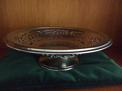 Vintage Cake Stand. Pierced Chrome Plated.Good Heavy quality. Made in England
