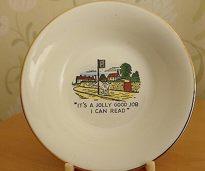 Collectors Plate Myott Staffordshire Pottery Comic Dog theme. 1940-1950s
