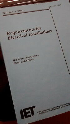 BS 7671, 18th Edition IET Wiring Regulations Book 2018