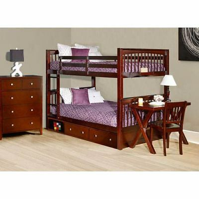 NE Kids Pulse Cherry Full Bunk Bed with Storage - 31060NS