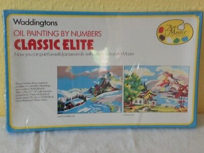 Vintage Waddington's oil painting by numbers classic elite. Art Master 1979