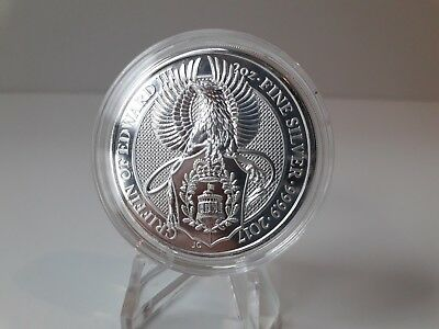 2017 QUEENS BEASTS.GRIFFIN OF EDWARD III BEAST. 2oz silver .9999 bullion £5 coin