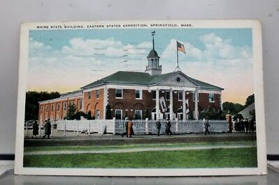 Massachusetts MA Springfield Maine State Building Postcard Old Vintage Card View