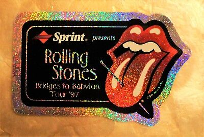 Large Specimen Phonecard - ROLLING STONES Bridges to Babylon Tour 1997 - Glitter