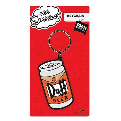 The Simpsons Duff Beer Rubber Keyring Fob Moes Tavern Homer Official UK Licensed