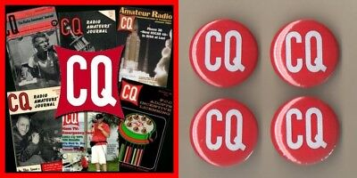 CQ Amateur Radio Magazine Collection - 734 Issues In PDF On 6 x DVD - With Badge