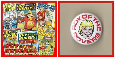Roy Of The Rovers Comic Collection 437 PDF Issues on 2 DVDs With Free Roy Badge