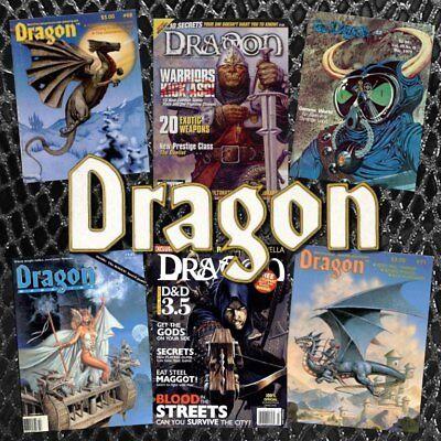 Dragon Magazine Complete Run 430 Issues In PDF on 2 DVDs - Dungeons and Dragons
