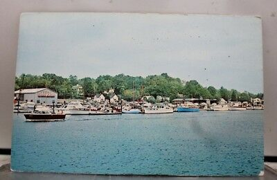 Connecticut CT Greenwich Cos Cob Cove Postcard Old Vintage Card View Standard PC