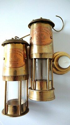Permissible Flame Safety Lamps, Made for Royal Navy , London 1920 Vintage