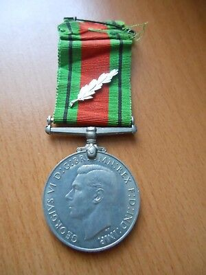 "Great Britain Ww2 - Defence Medal With ""kings Commendation For Brave Conduct"""