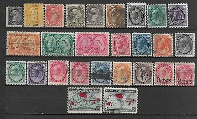 Collection Lot Of 27 Canada Stamps Qv Era 1882-1902 Cv + $188