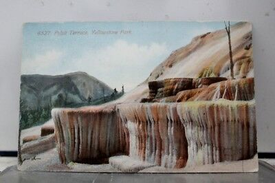 Yellowstone National Park Pulpit Terrace Postcard Old Vintage Card View Standard
