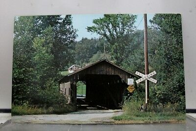 Vermont VT Cambridge Junction Covered Bridge Postcard Old Vintage Card View Post