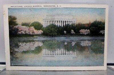 Washington DC Lincoln Memorial Reflections Postcard Old Vintage Card View Post