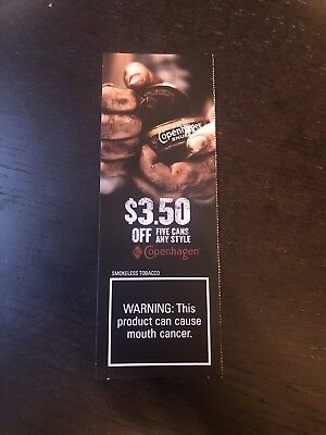 Copenhagen coupon $3.50 Value (exp 12-14-18)