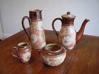 Exceptional Set of Antique Royal Doulton Slaters Patent Coffee Service. 4 Items