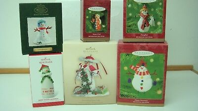 Hallmark Snowman Ornaments Set of 6 2000-2014 all with original boxes