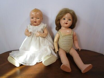 "VINTAGE EFFANBEE  20"" MAMA DOLL and VINTAGE EFFANBEE BUBBLES DOLL"