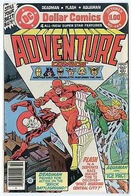 Adventure Comics #465 NM- 9.2 white pages  Flash  DC  Giant  1979  No Reserve