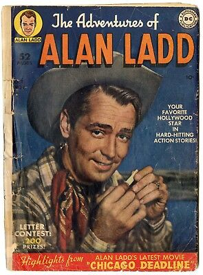 Adventures of Alan Ladd #1 FR/G 1.5  complete  Photo Cover  DC  1949  No Reserve