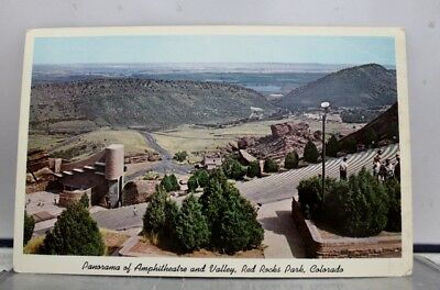 Colorado CO Red Rocks Park Amphitheater Valley Panorama Postcard Old Vintage PC