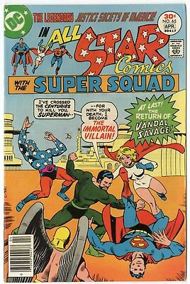All Star Comics #65 NM- 9.2 white pages  Justice Society  DC  1977  No Reserve