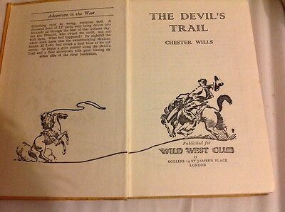The Devil's Trail by Chester Wills Wild West Club Vintage Western Hardback 1952