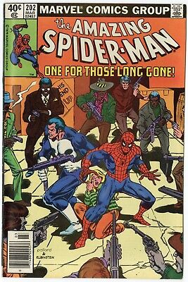 Amazing Spider-Man #202 VF/NM 9.0 ow/white pages  Punisher app.  Marvel  1980