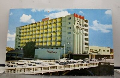 Nevada NV Reno Truckee River Holiday Downtown Hotel Postcard Old Vintage Card PC