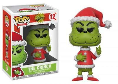 Funko POP! Books Dr. Seuss The Grinch #12 Santa Toy Figure Brand New