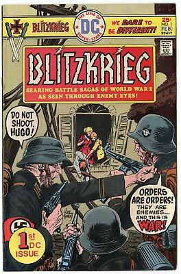 Blitzkrieg #1 NM- 9.2 white pages  DC  1976  No Reserve