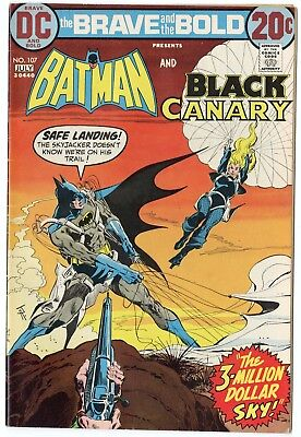 Brave & Bold #107 VF+ 8.5 ow/white pages  Batman  Black Canary  DC  1973