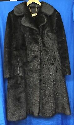 Vintage Echt Pelz Long Length Real Fur Coat - Size UK10