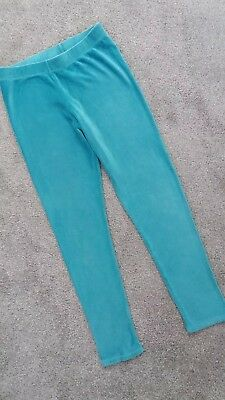 Mini BODEN turquoise velour Leggings 9-10 years