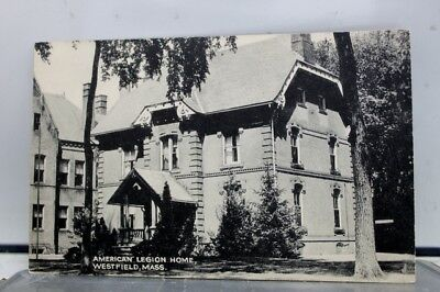 Massachusetts MA Westfield American Legion Home Postcard Old Vintage Card View