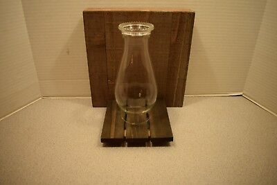 "Glass Kerosene Oil Lamp Chimney - 3"" fitter x 8 1/2"" tall"