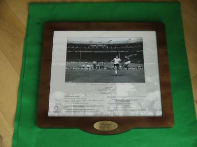 Superb Framed Print 1966 Football World Cup England With Geoff Hurst Signature