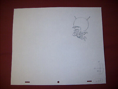 Vintage Original Flintstones Cartoon Art / G-27 / The Great Gazoo Laughing