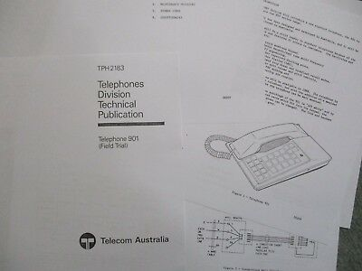 TELEPHONE 901 Field Trial  Oct. 1987 - later known as the Touchfone T200
